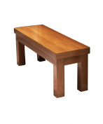 ZEMIN Household Solid Wooden Adult Small Rectangular Stool Anticorrosive, Wood Colour