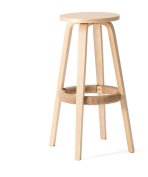 ZEMIN Breakfast Bar Stool wood Solid Dining Wooden Chair high wood in Light indoor outdoor
