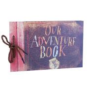 Our Adventure Book Scrapbook Photo Album, Expandable Album, 29cm x 19cm , 80 Pages, with Photo Album Storage Box DIY Accessories Kit