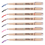 Sakura Pigma Micron Fine Line Pen High Light and Soft Head Pen Manga Drawing Basic Set from Japan