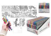 46 Piece Gel Pen and Postcard Set