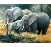 Blxecky 5D DIY Diamond Painting ,By Number Kits Crafts & Sewing Cross Stitch,Wall stickers for living room decoration,Elephant