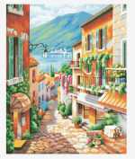Wowdecor Paint by Numbers Kits for Adults Kids, Number Painting - European Town Style 41cm x 50cm