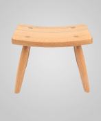 ZEMIN Solid Wooden Rectangular Stool Dining Living Room Study Furniture, 5 Colour Available, 26.5*19.5*21CM