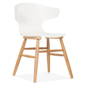 Cult Living Elin Curved Back Dining Chair - White