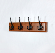 Retro Colour Wooden Hook Creative Coat And Hat Rack(36/48 / 60cm * 9cm)