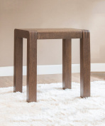 WUFENG Rubberwood square Stool, Walnut colour and Wood colour,40 * 35* 45cm