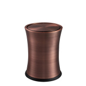 Home & Kitchen Stainless Steel Trash Can, Shaking Home Retro 8L(20*26CM) Trash Can ( Colour : E , Size : 8L