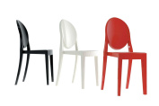 Kartell Victoria Ghost Chairs, Black