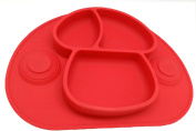 Strong suction Silicone Placemat and Tray, Bowls for Babies,Safe Non-toxic Food Grade Silicone, Phthalate Free, Not Breakable, Easy Clearning,Dishwasher safe