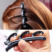 1 PCS Fashion Double Layer Alligator Hair Clips - Professional Hair Clips for Styling Twist Plait Clip /Front hair clips hairpin Beauty Tool Fashion Accessory