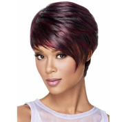 YIMANEILI Bob Wigs for White Women - Short Straight Hair Wigs with Bangs Heat Resistant Synthetic Hair Wigs with a Free Wig Cap