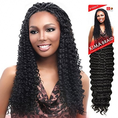 Harlem125 Synthetic Crochet Hair Kima Braid - BRAZILIAN TWIST 50cm (2 Dark Brown)