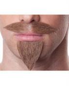Three Musketeers Moustache Goatee Set 3 Athos Porthos Aramis D'Artagnan French #948 Sepia Costume Wigs,Facial Grey