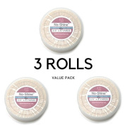 TRIO PACK No Shine 1cm x 6 Yards Tape WITH CASE INCLUDED - Walker Bonding Clear Double Sided