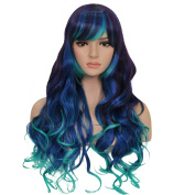 60cm Long Curly Wig - Charming Women Long Curly Wig with Free Wig Cap and Wig Comb