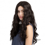 Asifen 70cm Long Water Wave Wigs Heat-Resistant Synthetic Daily Use Wigs for Women