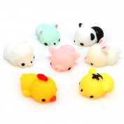 Pulison(TM) One Piece Kawaii Animal Slow Rising Squishy Panda/tiger/pig/sheep/duck/rabbit/chick Cute Phone Straps Soft Bread Cake Kids Toy