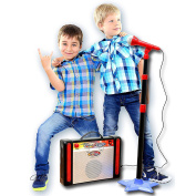 My First Karaoke Adjustable Mic & Speaker Can Connect To Your Smartphones, Ipods, MP3 Players and CD Players