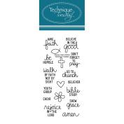 Technique Tuesday Clear Stamps 5.1cm x 10cm -Planner-Faith