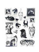 Contemporary Peering Cat Series Clear Rubber stamp for DIY Scrapbooking