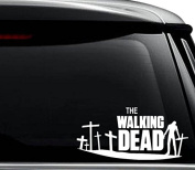 The Walking Dead Zombies Decal Sticker For Use On Laptop, Helmet, Car, Truck, Motorcycle, Windows, Bumper, Wall, and Decor Size- [6 inch] / [15 cm] Wide / Colour- Gloss White