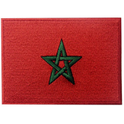 Morocco Flag Embroidered Patch Moroccan Iron On Sew On National Emblem