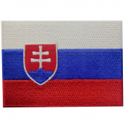 Slovakia Flag Embroidered Patch Slovak Republic Iron On Sew On National Emblem