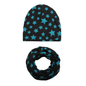 Baby Hat and Scarf Set, KEERADS Beanie Hat with Snood Scarf Neck Warmer for Infant Kids