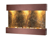 Reflection Creek Water Feature with Copper Vein Trim and Square Edges