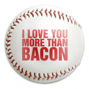 Funny Bacon Character Letter Size 9 Safety Soft Baseballs Bullet Ball Training Ball White
