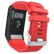 Garmin Vivoactive HR Watch Band, MoKo Soft Silicone Replacement Watch Band ONLY for Garmin Vivoactive HR Sports GPS Smart Watch with Adapter Tools.