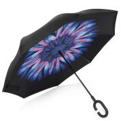 Rainlax Inverted Double Layer Windproof UV Protection Reverse folding Umbrellas