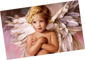 Wowdecor Paint by Numbers Kits for Adults Kids, Number Painting - Cute Little Boy Angel 41cm x 50cm