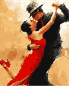 Wowdecor Paint by Numbers Kits for Adults Kids, Number Painting - Sweet Dance,Lovers 41cm x 50cm