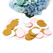 Usdepant Glitter Circles Paper Throwing Confetti for Wedding Party,100Pcs/Pack