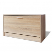 Festnight Shoe Storage Bench Hallway Bench Shoe Cabinet with Drawer 80 x 24 x 45 cm