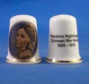Porcelain China Collectable Thimble - Florence Nightingale - Free Gift Box