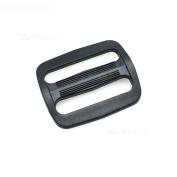 """15pcs 1-1/4"""" Plastic Curve Slider Tri-Glide Adjust Buckles Backpack Straps Black Webbing 30mm"""