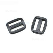 """50pcs 5/8"""" Plastic Curve Slider Tri-Glide Adjust Buckles Backpack Straps Black Webbing 15mm"""