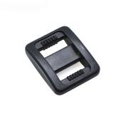 """50pcs 3/8"""" Plastic Slider Tri-Glide Adjust Buckles Backpack Straps Webbing 10mm Black"""