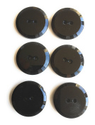 Black Jet Faceted Buttons Sets for Dress or Blazers Sew -On 6 Pc.\