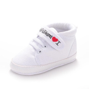 Ularma Winter Unisex Baby Letter Print Soft Sole Sneaker Toddler Shoes