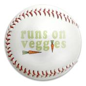 Runs On Veggies Vegan Carrot Size 9 Safety Soft Baseballs Bullet Ball Training Ball White