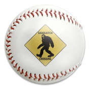 Sasquatch Crossing Sign Size 9 Safety Soft Baseballs Bullet Ball Training Ball White
