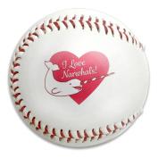 I Love Narwhals Heart Size 9 Safety Soft Baseballs Bullet Ball Training Ball White