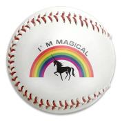 Unicorn And Raibow Magical Size 9 Safety Soft Baseballs Bullet Ball Training Ball White