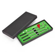 Golf Pen Set,Juboury Mini Desktop Golf Ball Pen Gift Set with Putting Green,Flag,3 Golf Clubs Pens & 2 Balls
