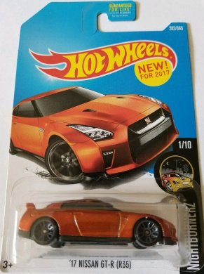 2017 Hot Wheels Nightburnerz 1/10 - '17 fits Nissan GT-R