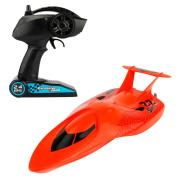 MonkeyJack 3322 Remote Control Boat Mini RC Submarine RC Racing Boat Toy Speedboat Red